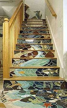 Beautiful stairs to fall down