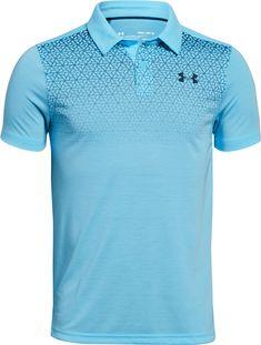 Under Armour Big Boys Threadborne Polo Shirt - Blue XS Black Polo Shirt, Polo Blue, Men's Polo, Sport Shirt Design, Sport T Shirt, Sport Wear, Mens Polo T Shirts, Mens Tees, Under Armour