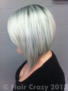 Cute asymmetrical bob