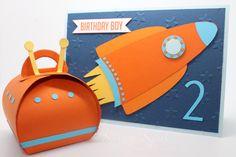 Blast Off – Rocket Card & Spaceship Curvy Keepsake Box. Kelly Kent - mypapercraftjourney.com.