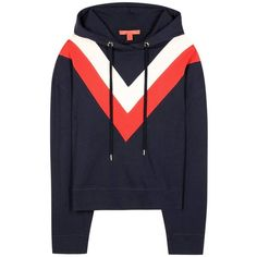 Tommy Hilfiger Cotton Hoodie (€240) ❤ liked on Polyvore featuring tops, hoodies, sweaters, blue, sweatshirts, blue hoodies, hooded pullover, cotton hooded sweatshirt, tommy hilfiger and hooded sweatshirt