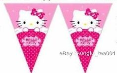 Sanrio Hello Kitty Birthday Party Bunting Flag Banner