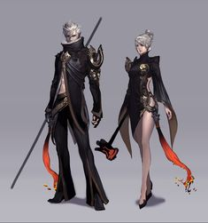 Make them dark elves, and they might be the twin Shadow Realm heirs!  ✧ #characterconcepts ✧ Aion