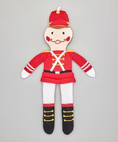Look at this Zubels 14'' Red Solider Hand-Knit Plush Toy on #zulily today!