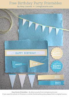 DIY : Free Birthday Party Printables