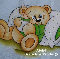 Tedy Bear, Blue Nose Friends, Arte Country, Baby Mickey, Cute Animal Drawings, Tole Painting, Drawing For Kids, Baby Quilts, Bedtime