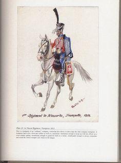 Hussars: Plate 10: 1st Hussar Regiment, Trumpeter, 1812.
