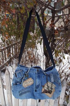 """Купить Сумка джинсовая """"РОК"""" - голубой, джинсовый стиль, джинсовая сумка, сумка джинсовая"""