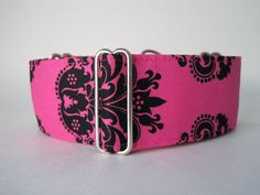 Hot Pink Martingale Collar 2 Inch Martingale by HuggableHound, $19.99