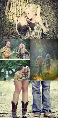 we're thinkin a fall wedding so these engagement pics would be sooo adorable and i could wear my cowgirl boots :)