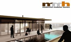 Modernist Modular Homes,  ModHaus, Modular Concept, designed by Ollin Trujillo 2007.