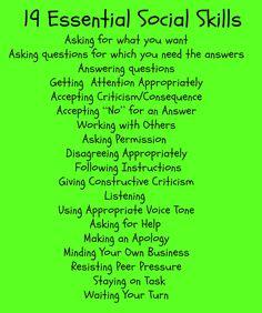 19 Essential Social Skills