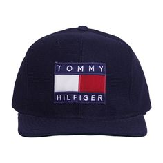 Tommy Hilfiger Snapback Perennial Merchants (398.820 IDR) ❤ liked on Polyvore featuring accessories, hats, fillers, snapback hats and snap back hats