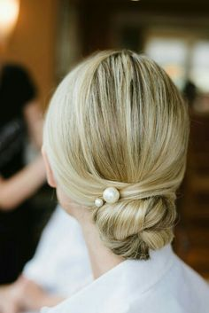 Give your up-do a classic touch with pretty pearl pins.