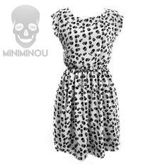 Vestido Miniminou Skulls