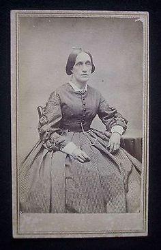 Civil War Era 1860's CDV Photograph Tax Stamp Bristol Rhode Island Woman   eBay