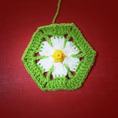 Foto-Tutorial for the Daisy Hexagon Pattern