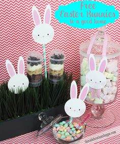 free Easter bunnies to a good home! {grin} Download yours at thecelebrationshoppe.com #Easter