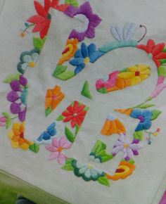 cute idea to make a word surro Mexican Embroidery, Embroidery Hoop Art, Cross Stitch Embroidery, Embroidery Designs, Crochet Doll Dress, Crazy Quilting, Applique Patterns, Embroidery Techniques, Fabric Painting