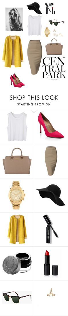 """Era of fashion"" by jackie-capistran ❤ liked on Polyvore featuring Manolo Blahnik, MICHAEL Michael Kors, Doublju, Michael Kors, MANGO, Bobbi Brown Cosmetics, Becca, Ray-Ban, LARA and Jeweliq"