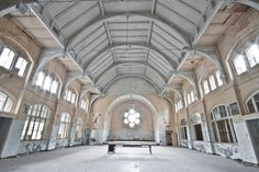 Abandoned Beelitz-Heilstätten sanatorium