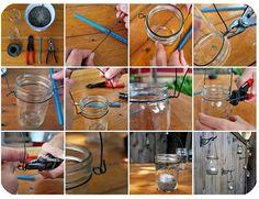 I needed this tutorial 2 months ago... Mason jar lanterns.