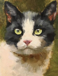 FullSizeRender von Katya Minkina Oil ~ x - Malerei Kunst Photo Chat, Watercolor Cat, Cat Drawing, Animal Paintings, Art Oil, Pet Portraits, Cat Art, Pet Birds, Art Projects