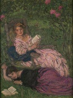 Women Reading, 1922, oil