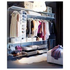 IKEA - ALGOT Wall upright/rod/shoe organizer white