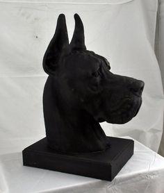 Great Dane Deutsche Dogge cropped with desk by ArtDogshopcenter