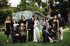 both families - I really want a photo with both sides together; and if someone cant be there or is deceased then have a picture of them