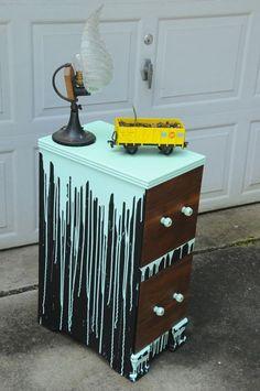 Portentous Useful Ideas: Shabby Chic Furniture Colors wood furniture bookshelves. Graffiti Bedroom, Graffiti Furniture, Furniture Logo, Funky Furniture, Refurbished Furniture, Colorful Furniture, Upcycled Furniture, Cheap Furniture, Unique Furniture