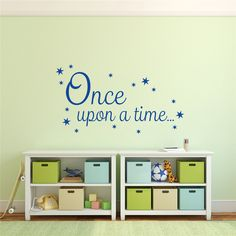 Cheap vinyl wall stickers, Buy Quality wall sticker directly from China vinyl wall Suppliers: Once upon a Time Decal Book Corner Quote Vinyl Wall Sticker Y170706