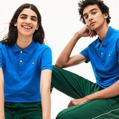 Polo Blue, Olive Skin, Pique Polo Shirt, Slim, Polo Ralph Lauren, Lacoste Clothing, Unisex, Fitness, Crocodile