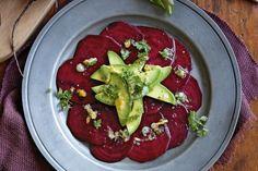 Avocado & beetroot salad with cumquat vinaigrette #Tastebudladies #Beetrootsalad