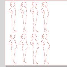 Fichier sst ** femme grossesse ** pour silhouette cameo - scrapbooking carterie silhouette cameo tuto astuce scrap image tube numérique crea...