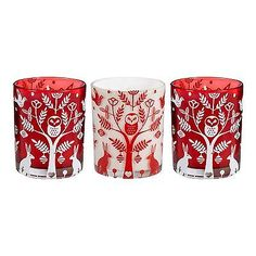 Debenhams Set Of Three Glass Votive Christmas Candles From Debenhams