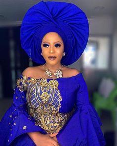 30 Nigeria Gele styles to try this Saturday - Ankara Lovers African Print Dresses, African Wear, African Attire, African Fashion Dresses, African Women, African Dress, Traditional Wedding Attire, African Traditional Wedding, Nigerian Bride