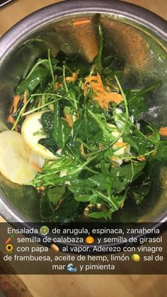 Ensalada de arugula