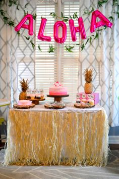 Children's Luau first birthday party, Hawaii theme party