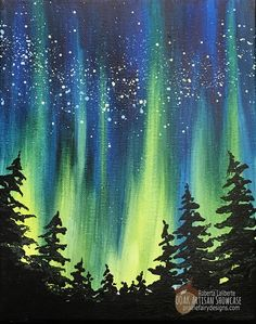 Acrylic paintings 311100286753812147 - Northern Lights Acrylic Painting, Roberta Laliberte, Prairie Fairy Studio, OOAK Artisan Showcase Source by akalaga Easy Canvas Painting, Simple Acrylic Paintings, Light Painting, Your Paintings, Painting Northern Lights, Painting Trees, Large Painting, Acrylic Painting For Kids, Galaxy Painting Acrylic
