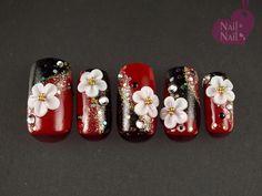 Scarlet Firth's statistics and analytics Diva Nails, Chic Nails, New Year's Nails, 3d Nails, 3d Nail Art, Cool Nail Art, Sunflower Nail Art, Metallic Lipstick, Japanese Nails
