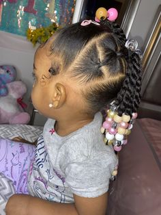 Toddler Braided Hairstyles, Toddler Braids, Kids Curly Hairstyles, Braids For Kids, Black Girls Hairstyles, Protective Hairstyles, Baby Girl Hair, Baby Hairs, Kid Braid Styles