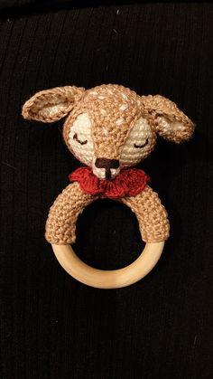 Meine kreative Welt: Beißring / Greifring Matilda mit Link zur Anleitun... Matilda, Teddy Bear, Toys, Cute, Ideas, Amigurumi, World, Ring, Tutorials