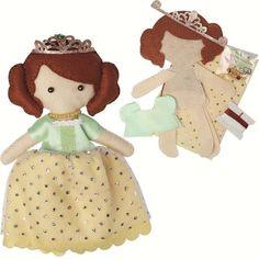 Felt craft Princess Olivia doll kit