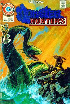 Lot Detail - 1975 Beyond the Grave Valley of the Dinosaurs Vengeance Squad Monster Hunters Korg: B. House of Yange Charlton Publications Sci Fi Comics, Horror Comics, Scary Comics, Monster Hunter 1, Comic Book Covers, Comic Books, Cry Anime, Anime Art, Charlton Comics