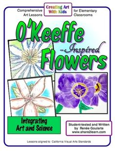Art meets informational text!  Shaded flowers art lesson inspired by Georgia O'Keeffe. Observe, discuss, draw, read, and write. Includes informational text and student response worksheet.