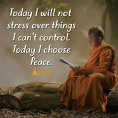 Today I will not stress over things I cannot control.