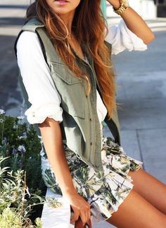 Skirts and vests.