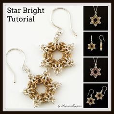 Star Bright Tutorial Chainmaille Jewelry PDF by UnkamenSupplies